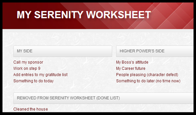 Worksheet Alcoholics Anonymous 12 Step Worksheets twelve step journaling online personal journal support groups read more the serenity worksheets